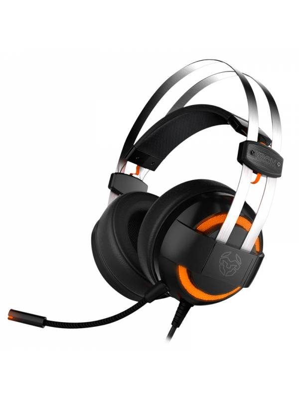 AURI. + MIC USB GAMING KROM    KODE 7.1 VIRTUAL CASCOS NEGRO