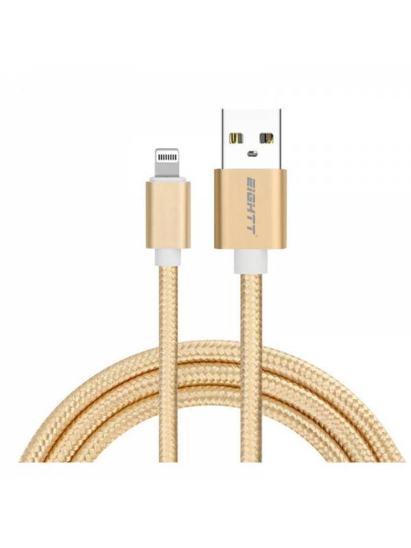 CABLE USB 2.0  1 M A LIGHTNING  CARGA IPHONE ORO