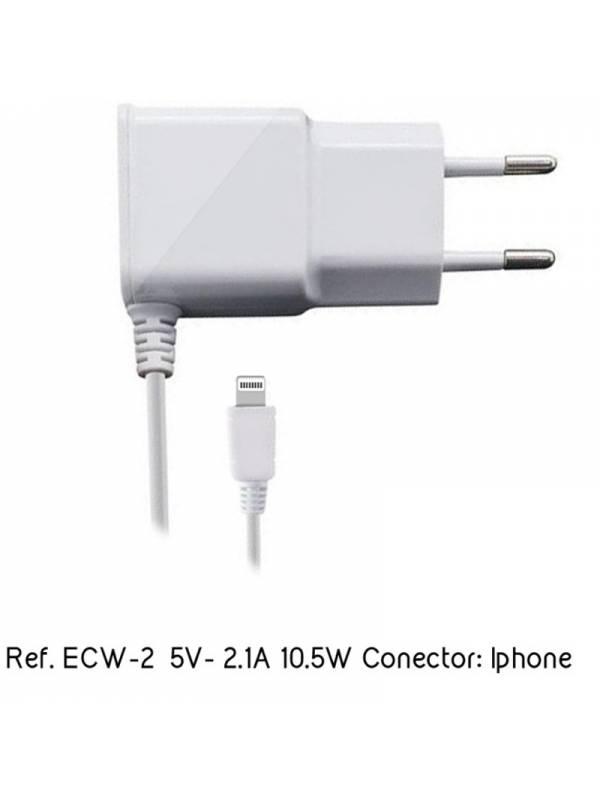 CARGADOR  5V ENCHUFE EIGHTT    ECW-2 iPHONE 2.1A BLANCO