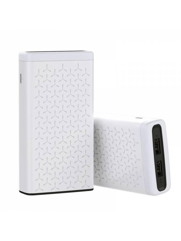 POWERBANK 10000 MAH 2.1A 3.7V   2X USB 2.0 BLANCO