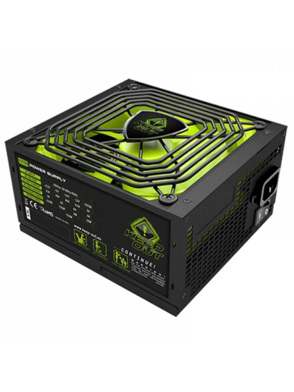 FUENTE 800W62A KEEP OUT RETAI L FX800 GAMING NEGRA