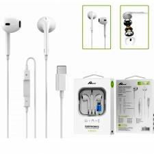 AURICULAR+MIC IPHONE LIGHTNING  1M BLANCO